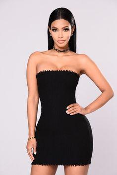 bca06c256e Evocative Knit Tube Dress - Black