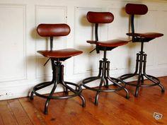 chaises d'atelier, industrielle