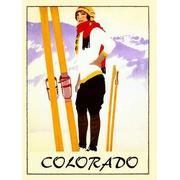 Colorado Lady Girl Skiing... this link has a bunch of vintage CO posters.