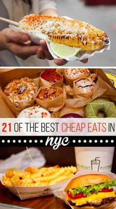 21 Delicious NYC Foods That Won't Break The Bank! New York travel food ideas to please everyone in your family or group! New York City Vacation, New York City Travel, New York Essen, Orlando, Voyage New York, New York Food, New York Eats, Good And Cheap, Foodie Travel