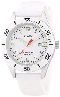 Timex Silicone White Dial Men's watch T2N533 * You can get more details by clicking on the image.