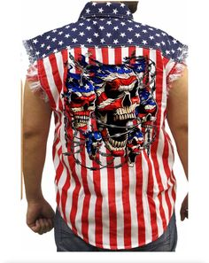 0440e911568 Mens sleveless denim just in time for 4th of July! Free Shipping for orders  over