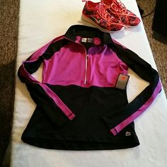 RBX Training Jacket Purple and black training jacket with half zip front. Has thumb holes on sleeves. 90% polyester 10% spandex material. Excellent condition. No trades RBX  Tops Tees - Long Sleeve