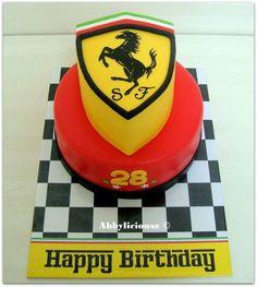 Ferrari cake! 10th Birthday, Birthday Cakes, Birthday Ideas, Birthday Parties, Happy Birthday, Ferrari Cake, 21st Cake, Car Cakes, Themed Cakes