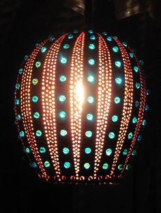 Accent gourd light by tamiredding on Etsy, $100.00