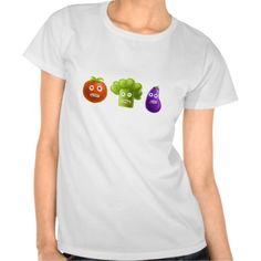 #Funny Cartoon #Vegetables #Shirt #clothing #fashion