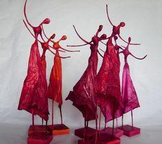 Polleritas de papel - Esculturas - Arte - XS: