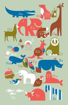 animal alphabet by Eleanor Grosch