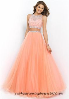 #two piece long prom dresses