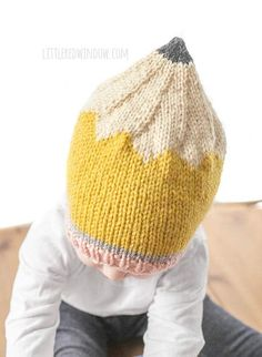 39f7266c71d Back to School Pencil Hat Knitting Pattern for newborns