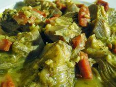 Alcachofas con jamón Ana Sevilla con Thermomix Nut Recipes, Healthy Recipes, Savoury Dishes, Salsa Verde, Palak Paneer, Allrecipes, Guacamole, Carne, Main Dishes