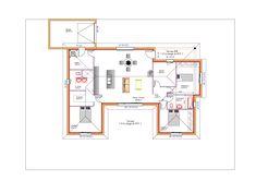 modles et plans de maisons modle de plain pied inspiration en u avec garage