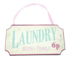 Candy Rose Collection 'Laundry Wash and Tumble' Plaque