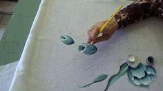 Como pintar tulipas em tecido. Parte 01