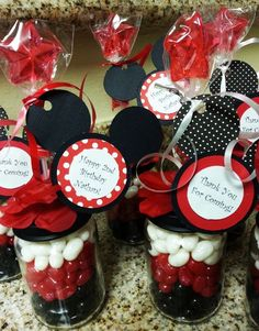 Mickey Mouse Baby Food Jar Party Favors by Stinkystuffs on Etsy, $6.75
