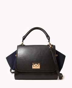 Paneled Trapeze Bag | FOREVER21 - 1045399697