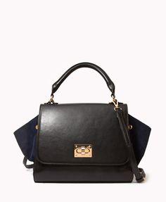 Paneled Trapeze Bag