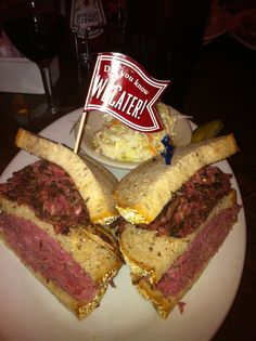 Eleven City Diner Chicago - Homemade Corned Beef and Pastrami Sandwich Pastrami Sandwich, Sandwiches, Homemade Corned Beef, Hamburger, Steak, Chicago, Van, Restaurant, City