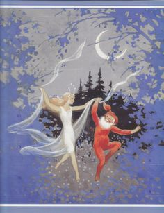 These are illustrations by Rudolf Koivu from Finland! Beautiful examples of nordic children's illustrations that Scandinavia and Finland are famous for. Fairy Land, Fairy Tales, Children's Book Illustration, Book Illustrations, Faeries, Childrens Books, Illustrators, Fantasy Art, Moose Art