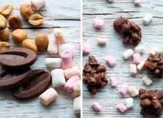 Chokoladekonfekt med skumfiduser og peanuts -> Opskrift fra Valdemarsro.dk