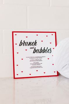 The TomKat Studio: Host a Valentine's Day Brunch + Mimosa Bar. Use this printable invitation for your party! Valentines Day Food, Be My Valentine, Free Printable Invitations, Brunch Invitations, Printable Party, Invitation Ideas, Invitation Design, Free Printables, Invitations