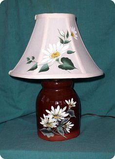 Hand Painted - Daisy Lamp