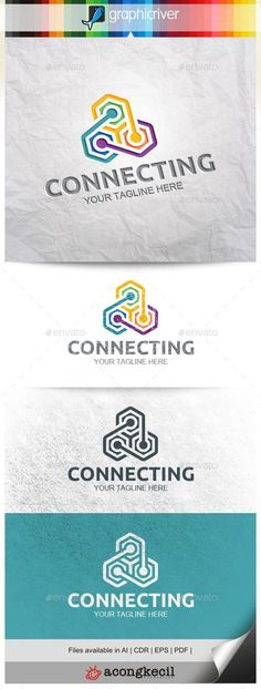Connecting Logo Template #design #logotype Download: http://graphicriver.net/item/connecting-v6/11453231?ref=ksioks