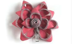 Broches con cremalleras en forma de flor