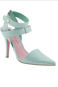 Mint pointed heels