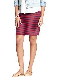 Women's Striped Ponte-Knit Pencil Skirts
