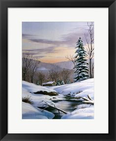 Thomas Linker Winter Landscape 36 is part of Landscape painting Snow - Winter Landscape 36 by Thomas Linker This Winter Landscape 36 Fine Art Print and related works can be found at FulcrumGallery com Painting Snow, Winter Painting, Watercolor Landscape, Landscape Paintings, Abstract Landscape, Landscape Architecture, Landscape Design, Landscape Fabric, Winter Scene Paintings