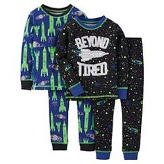 Just One You™ Made by Carter's® Toddler 4-Piece Mix & Match Spaceship Pajama Set - Blue 3T