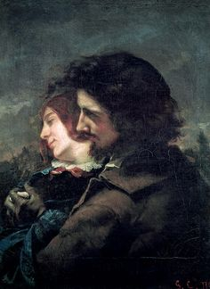 thelivingsculptures:    Gustave Courbet - 'Lovers in the Countryside', Oil on canvas, 1844
