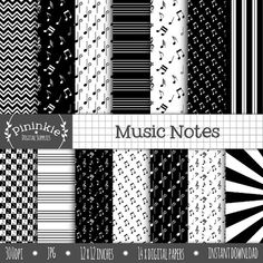 Hey, I found this really awesome Etsy listing at https://www.etsy.com/listing/184326269/music-digital-scrapbooking-paper-black