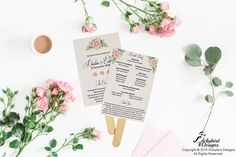 Wedding Program Fan Wedding Program Fans, Wedding Stationery, Place Cards, Place Card Holders, Wedding Invitations