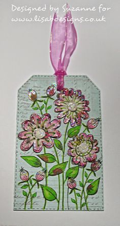 Welcome to Lisa.B.Designs : Spring Flower tag...