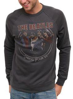 The Beatles Super Soft Vintage Crew Neck Sweatshirt @ http://www.junkfoodclothing.com  $65