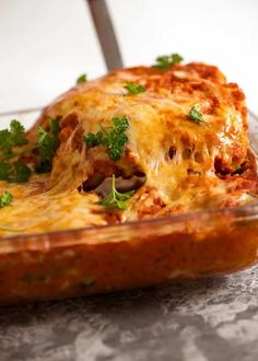 Spinach Beef Cannelloni (Manicotti) | RecipeTin Eats
