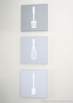 Tutorial to make Ombre Kitchen Wall Art