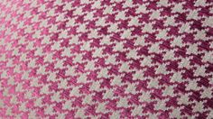 Houndstooth Pillow Cover Raspberry Pink Purple by MotifPillows