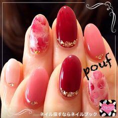 pretty pink and red nails Love Nails, Pink Nails, Pretty Nails, Nail Art Designs, Japanese Nail Art, Bridal Nails, Beautiful Nail Designs, Nagel Gel, Creative Nails