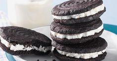 dark chocolate sandwich cookies sandwiched around vanilla or peppermint filling.