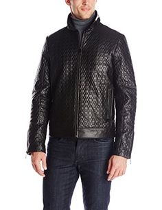 Calvin Klein Men's Premium Quilted Leather Jacket, Black, Large Calvin Klein ++ You can get best price to buy this with big discount just for you.++