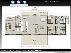 - Australian 4 Bed + 2 Bath + Concept Home Plans For Sale / on stumps and timber floor / Steep Slope House Design by AustralianHousePlans on Etsy Four Bedroom House Plans, 3 Bedroom Floor Plan, Small House Floor Plans, House Layout Plans, House Plans One Story, House Layouts, Australian House Plans, Australian Homes, Metal Building Homes