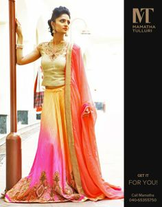 Beauty is all about enhancing what you have! #Lehenga #love #Gorgeous http://www.mamathatulluri.com