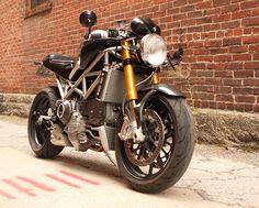 Titanium Frame Ducati Monster – Mostro Della Strada from StradaFab Moto Ducati, Ducati Cafe Racer, Ducati Motorcycles, Scrambler Motorcycle, Custom Motorcycles, Custom Bikes, Cafe Racers, Ducati Monster S4, Ducati Monster Custom