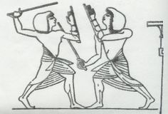 Tomb of Merire II at El Amarna, - Ancient Egyptian Stick fighting. Martial arts was practiced in Egypt and is an ancient religious practice. African Culture, African History, African Art, Ancient Egypt Religion, Stick Fight, Pagan Gods, Warrior Spirit, Queen, Military Art