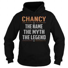 I Love CHANCY The Myth, Legend - Last Name, Surname T-Shirt T shirts