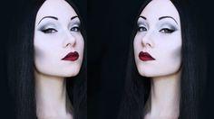 Morticia Addams Makeup Tutorial #halloween