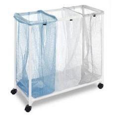 for laundry? Whitmor Mfg. Corp. -Whitmor  6208-2417  Triple Mesh Sorter With Wheels, White $32